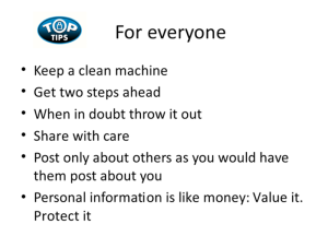 Top Cybersecurity Tips